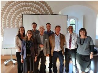 TheBelbin Associates Team with CERT Lanka: L to R: Vicky, Deborah,Stuart, Barrie, Peter, Nigel, Ravi and Jo